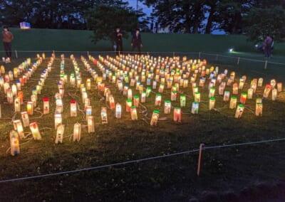 地域の魅力が光り輝く!!山の都ハイカライトアップ 点灯式が行われました。