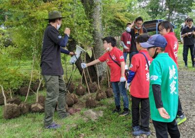 青少年の心育成事業 風林火山の修行~林の修行~が行なわれました。